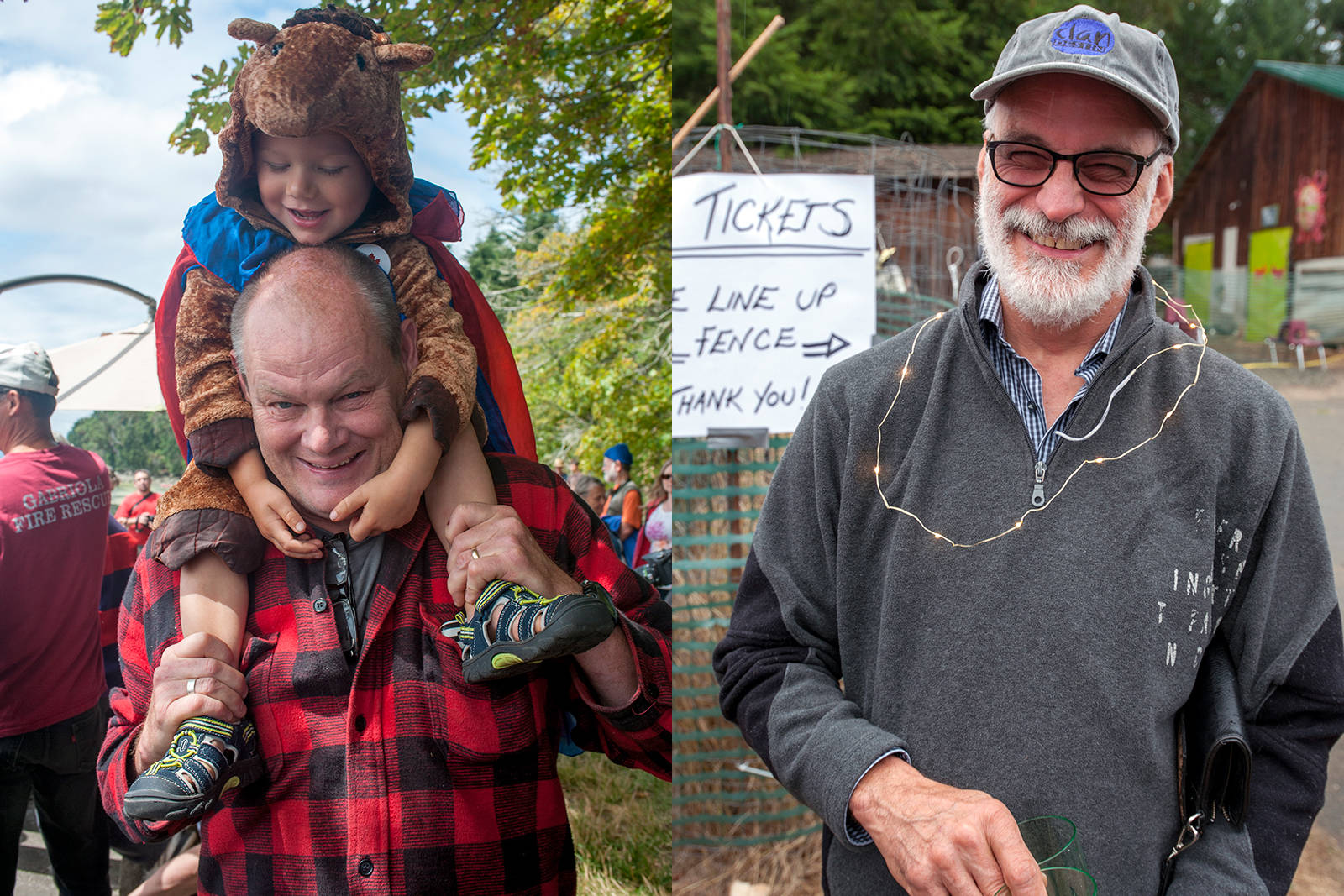 Chris Straw, pictured with his grandson Luca, left, and Marc Doré have been identified as the men who died in a construction accident on Gabriola Island on Tuesday. (Photos courtesy R. Jeanette Martin)
